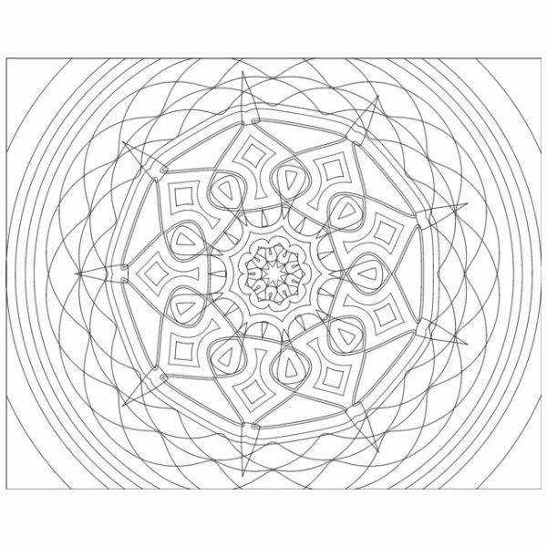Virtues Affirmation Mandala Coloring Book