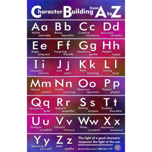 Virtues Alphabet Poster
