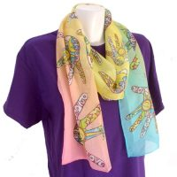 Love Peace and Unity Silk Scarf