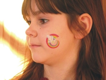 Peace Rainbow temporary tattoo