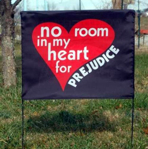 No Room/World Citizen Yard Sign Cover