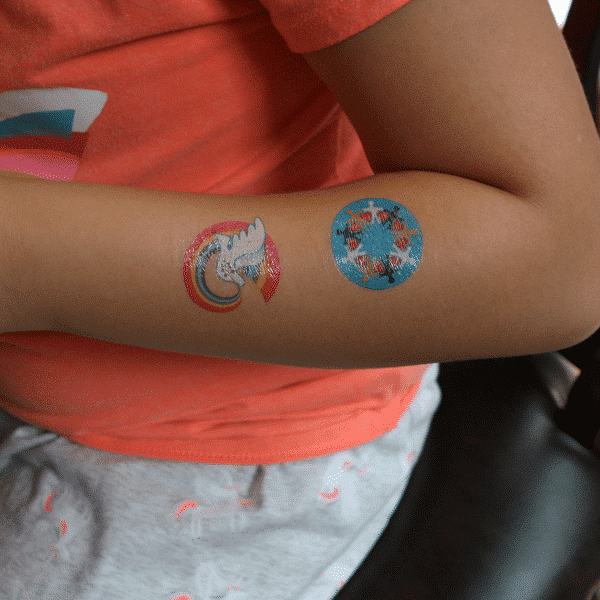 Peace Rainbow temporary tattoo