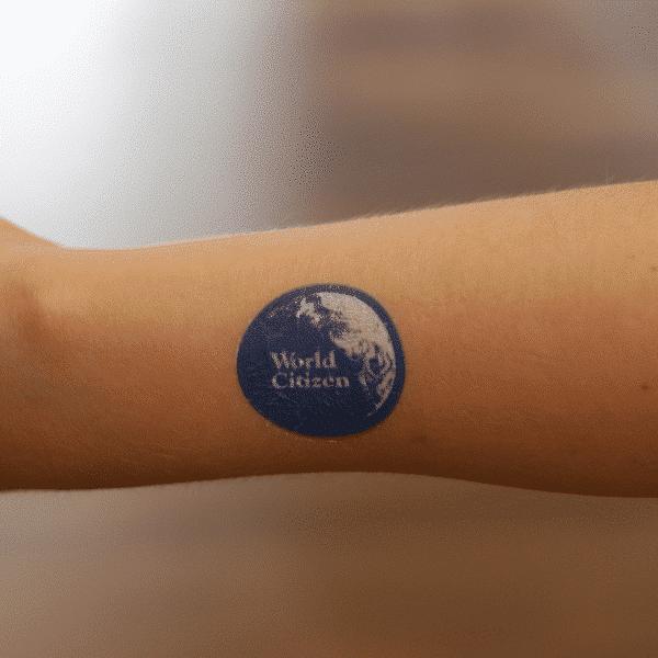 World Citizen temporary tattoo