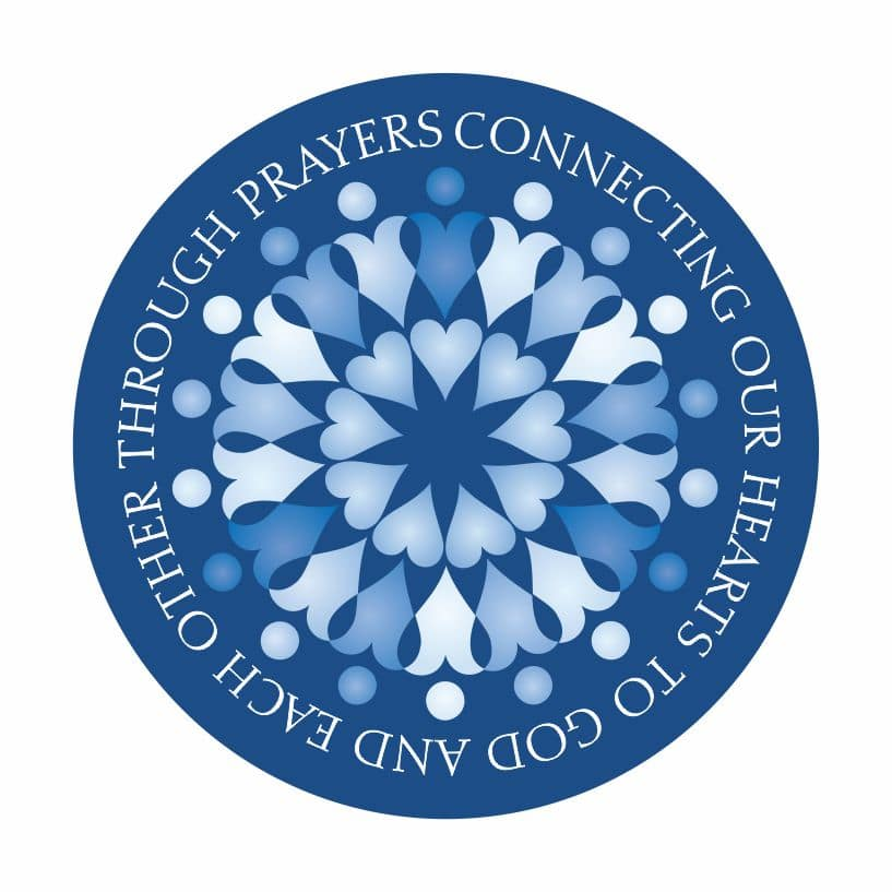 Prayers Connecting Blue Button