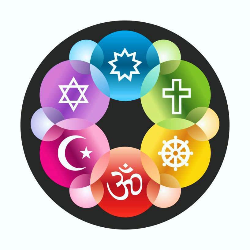 Interfaith Symbols Design Magnet