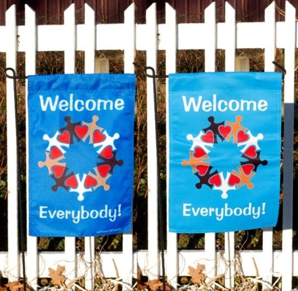 Welcome Everybody Garden, Yard or Door Flag