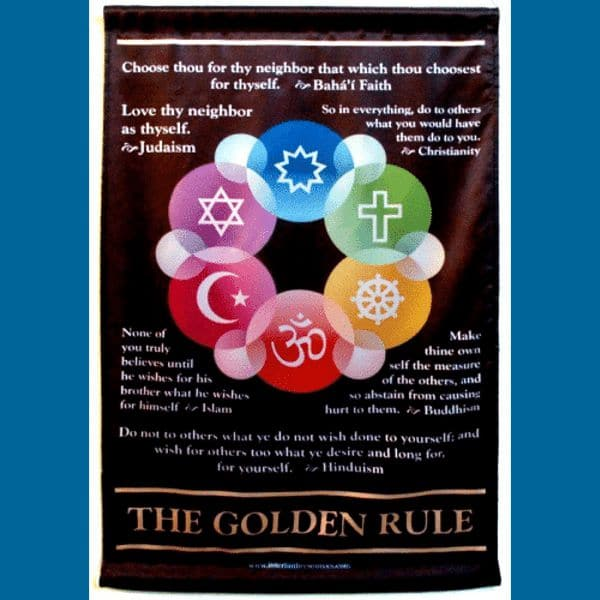 Golden Rule Satin Wall Hanging