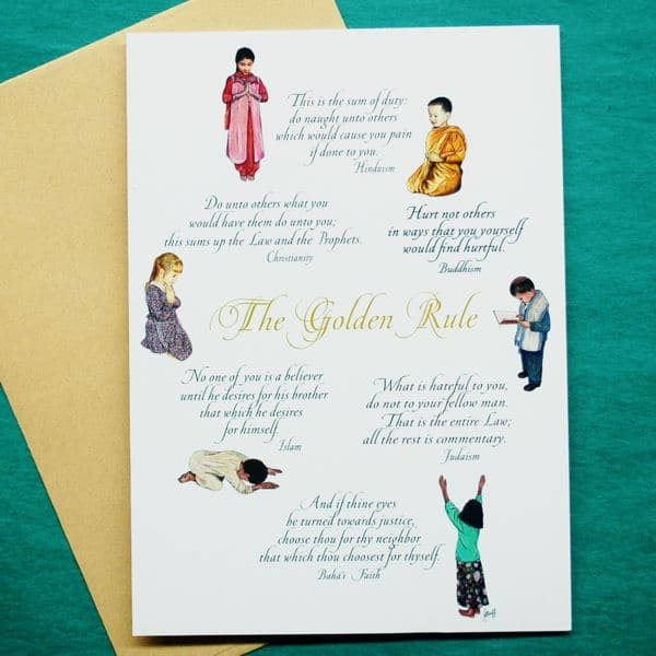 Praying Children Golden Rule Greeting Card