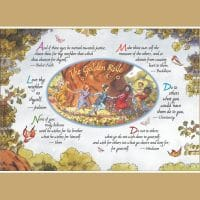 Dancing Children Golden Rule Greeting Card