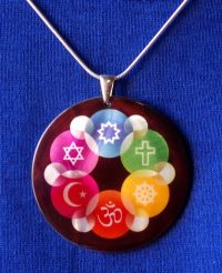 Large Mother of Pearl Interfaith Pendant