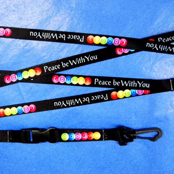 Peace Be With You Interfaith lanyard