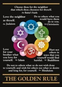 Multi-faith Golden Rule Postcards