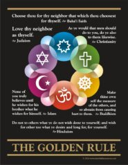 Interfaith Golden Rule Poster-Pamphlet