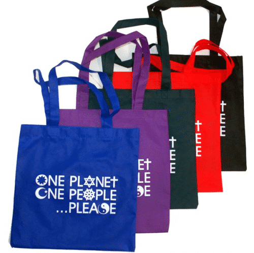 One Planet One People Please Tote Bag