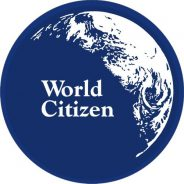 World Citizen window decal