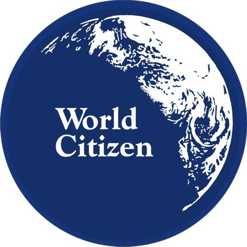 World Citizen window decal