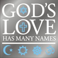 God's Love window decal