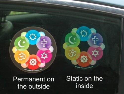 Interfaith Design Window Decal / Sticker