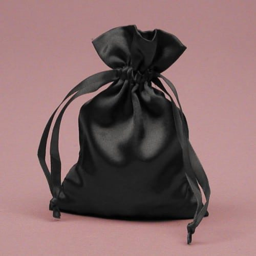 Small Satin Jewelry Pouch