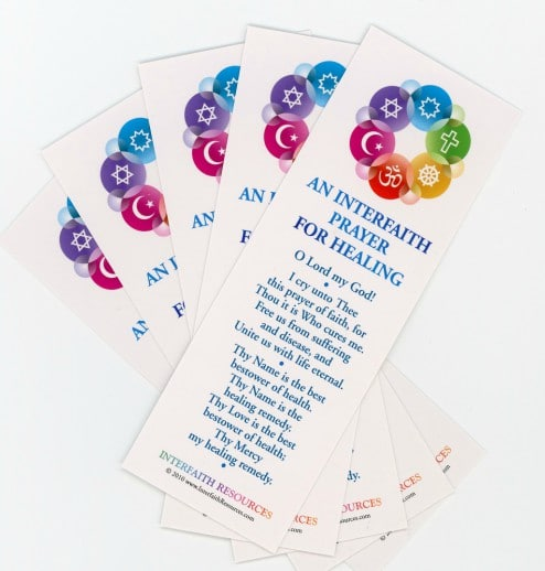 Interfaith Prayer for Healing Bookmarks