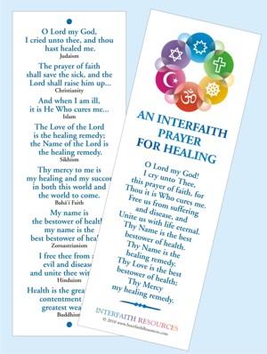 Interfaith Prayerr for Healing Bookmark
