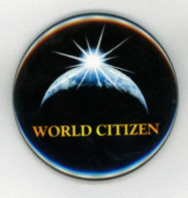 World Citizen Black Button