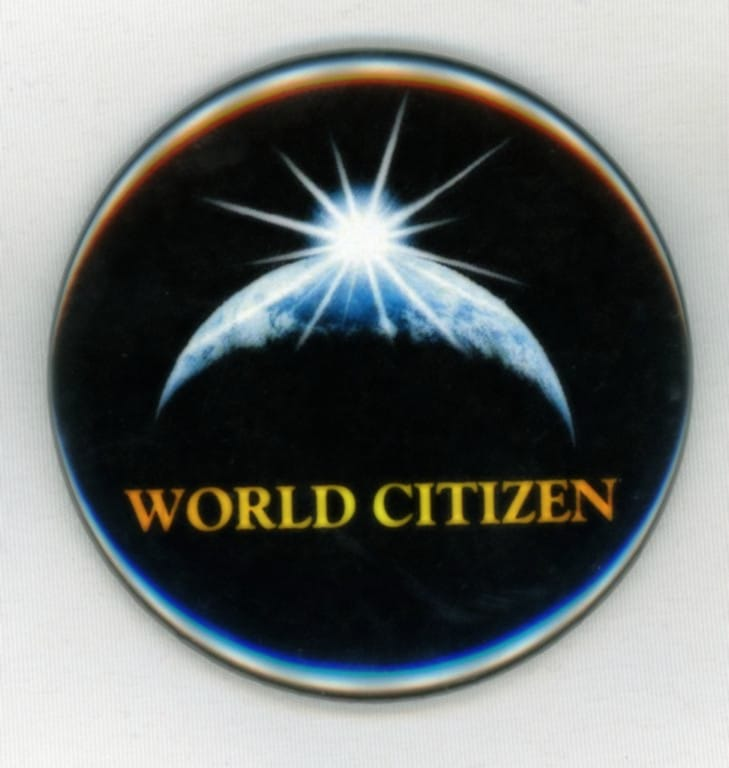 World Citizen Black Button