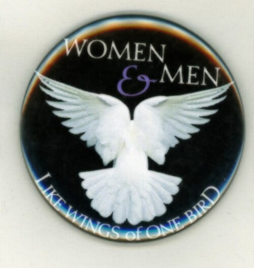 Equality of Women and Men Button