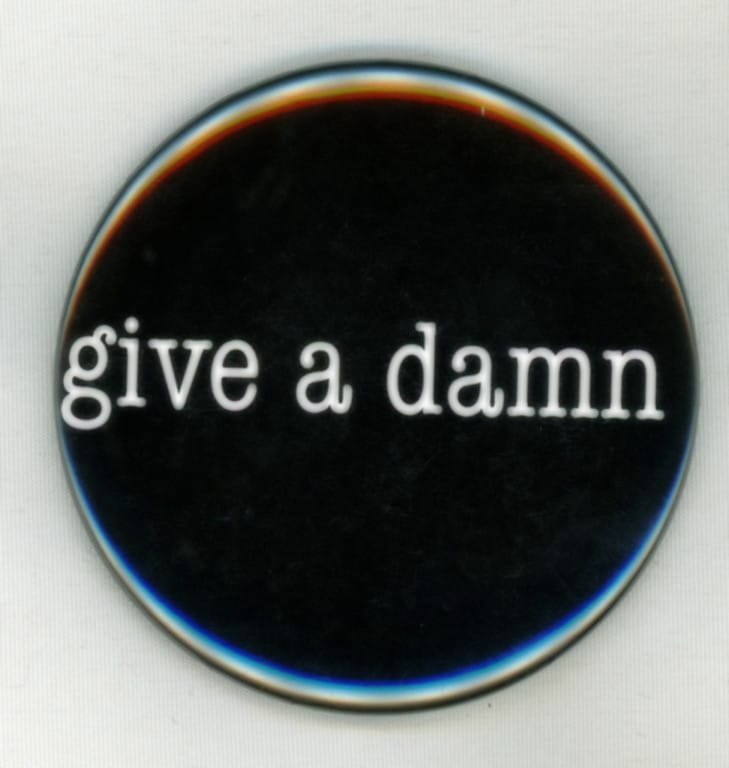 give a damn Button