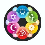 Interfaith Symbols Design Magnet