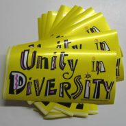 Unity in Diversity removable Bumper Sticker