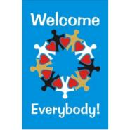 Welcome Everybody Garden, Yard or Door Flag