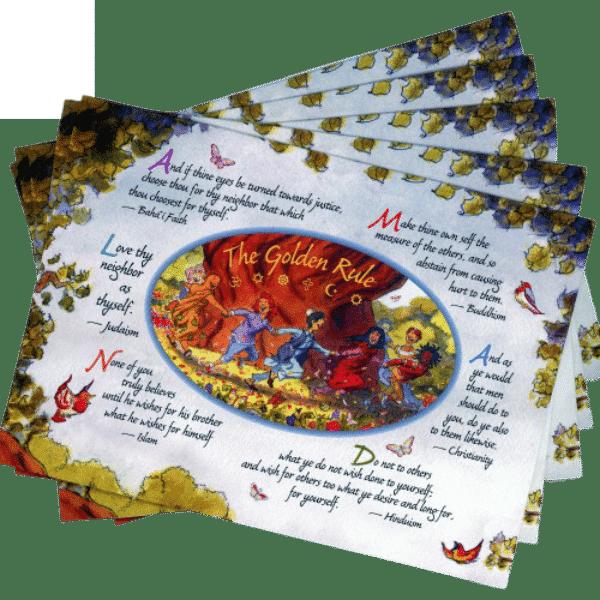Dancing Children Golden Rule Greeting Card