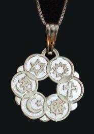 Smaller Silver Plated Interfaith Pendant
