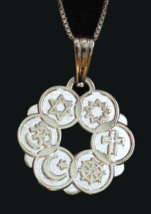 Smaller Silver Plated Interfaith Pendant