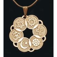 Large Gold Plated Interfaith Pendant
