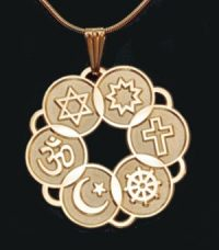 Large Gold Plated Interfaith Pendant