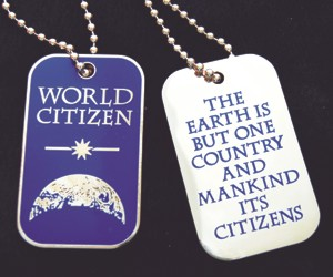 World Citizen ID Dog Tags