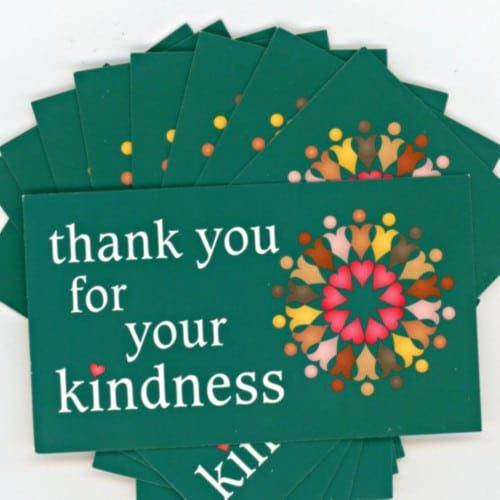 Thank You for your Kindness Wallet Cards
