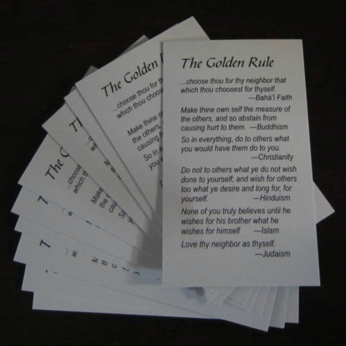 Interfaith Golden Rule Wallet Cards