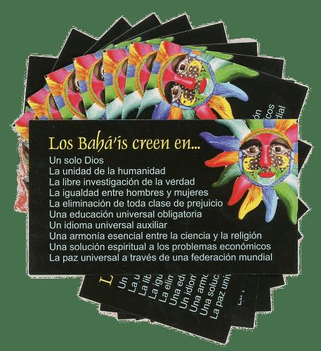 SPANISH Bahais Believe In – Teaching Cards