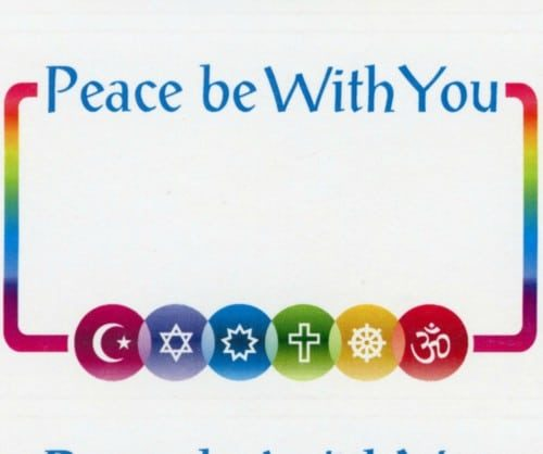 Peace be with you Name Tag Stickers