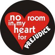 No room in my heart for prejudice sticker