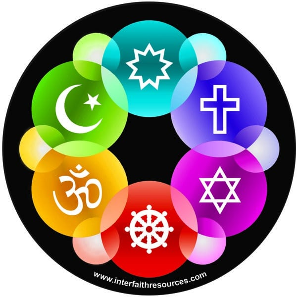 Interfaith Design Window Decal / Sticker
