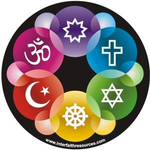 Interfaith design window decal