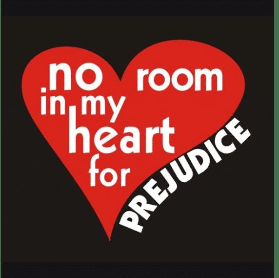 No Room in My Heart for Prejudice Baha'i T-Shirt