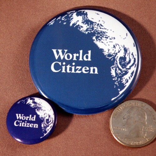 50¢ Mini World Citizen Button