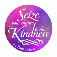 Seize Kindness Bahai Button