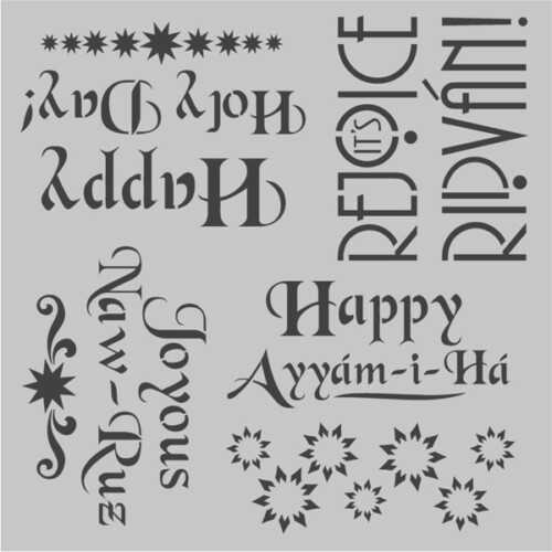 Star/Holiday Cake/Craft Stencils