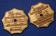 Trust in God/Remover of Difficulties Prayer Coins